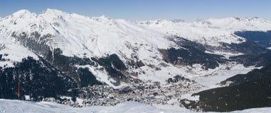 Klosters 2007 - mening van Pischa Stock Foto's