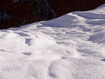 Klosters 2007 - off piste tracks Royalty Free Stock Photo