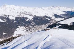 Klosters 2007 - View From Pischa Royalty Free Stock Image