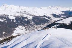 Klosters 2007 - vista de Pischa Imagem de Stock Royalty Free