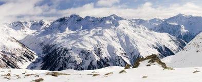 Klosters 2007 - vista dos alpes de Madrisa (2) Imagens de Stock