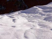 Klosters 2007 - weg von den piste Spuren Lizenzfreies Stockfoto
