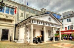 Klosterställe för nummer 6, hus av regeringen i Gibraltar Royaltyfri Bild