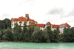 KlosterSt Mang på floden Lech Royaltyfria Bilder