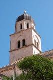 Klostertorn, Dubrovnik, Kroatien Arkivbild