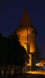 Klostertorn i Bardejov slovakia Fotografering för Bildbyråer