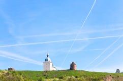 klostertransfiguration ukraine Arkivfoto