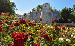 Klostervägg av Kyiv Pechersk Lavra, Kiev, Ukraina arkivbild