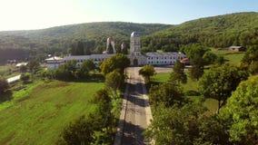 Klostervogelperspektive stock footage