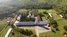 Klostervogelperspektive stock video footage