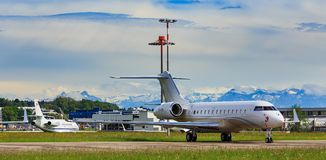 View at Zurich airport Stock Photos