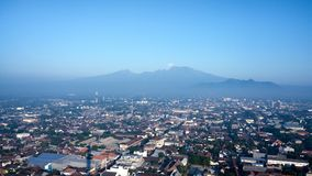 Klothok山在谏义里国印度尼西亚 库存图片
