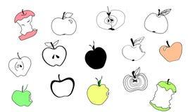 Klotteräpplen royaltyfri illustrationer