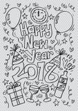 Klotter av det lyckliga nya året 2018 Arkivbild
