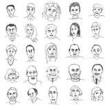 Klotter av folk arkivbild