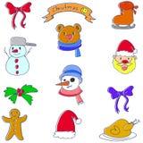 Klotter av julbeståndsdelsamlingen Fotografering för Bildbyråer