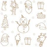 Klotter av julhandattraktion Royaltyfri Bild