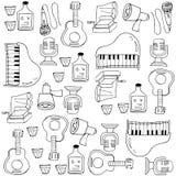 Klotter av musikuppsättningen Fotografering för Bildbyråer