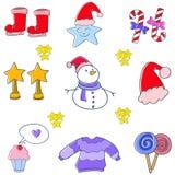 Klotter för juldesignbeståndsdel Royaltyfria Bilder