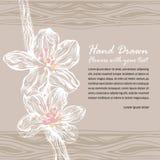 klotter tecknad blom- hand vektor illustrationer