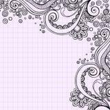 klotter tecknad psychedelic swirlsvektor för hand Royaltyfria Bilder