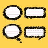 Klotteranförande bubblar vektor illustrationer