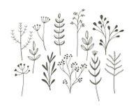 Klottergräsuppsättning stock illustrationer