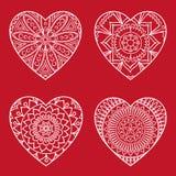 Klotterhjärtakort vektor illustrationer