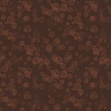 Klotterkaffe cirklar sömlös bakgrund Royaltyfria Foton