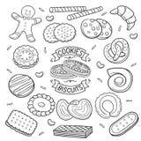 Klotterkakor och kex vektor illustrationer