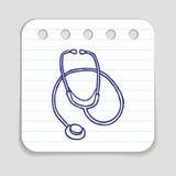 Klotterstetoskopsymbol royaltyfri illustrationer