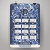 Klottertecknad filmkalender 2015 år design Arkivbild
