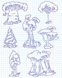 klottertrees Arkivbilder