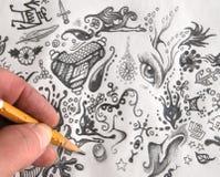 klottra stock illustrationer