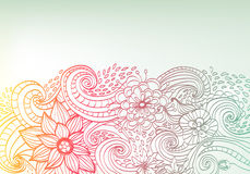 Klottra blom- bakgrund för färg Royaltyfri Foto