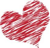 klottrad hjärta arkivfoton