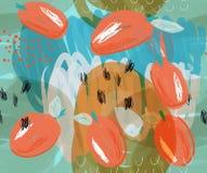 Klottrade orange plommoner på markörblåttdetaljer Royaltyfri Foto