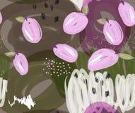 Klottrade purpurfärgade plommoner på markörgräsplandetaljer Arkivfoton