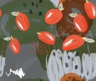 Klottrade röda plommoner på markörgräsplandetaljer Royaltyfri Bild