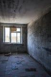 Klottrade väggar i sjukhusrum arkivbilder