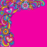 klottrar den groovy psychedelic vektorn Royaltyfri Fotografi