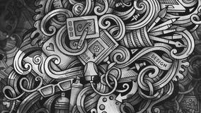 Klottrar illustrationen för den grafiska designen idérik konstbakgrund Royaltyfri Foto