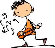 klottrar musikvektorn Royaltyfri Bild