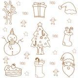 Klottret av jul sänker vektorn Arkivfoton