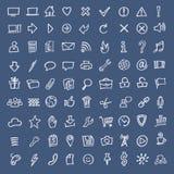 Klottret skissar rengöringsduksymboler Arkivbilder