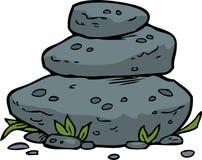 Klottret staplade stenar Arkivfoton