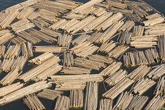 Klotz-Booms auf Okanagan See Kelowna-Britisch-Columbia Kanada Lizenzfreies Stockfoto