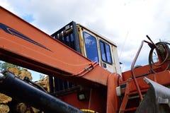 Klotz-Lader-Fahrerhaus Stockbilder