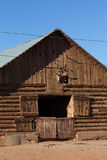 Klotz-Ranch-Scheune lizenzfreie stockfotografie