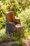 Klotz-Stuhl Stockbilder